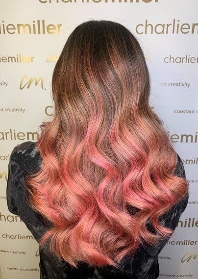 Autumn hair inspiration - pink balayage