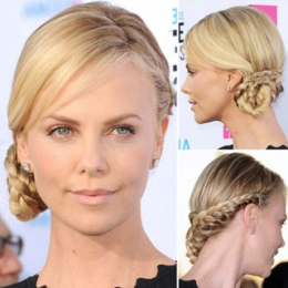 Charlize Theron with Braids