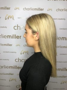 Sleek and straight hairstyle