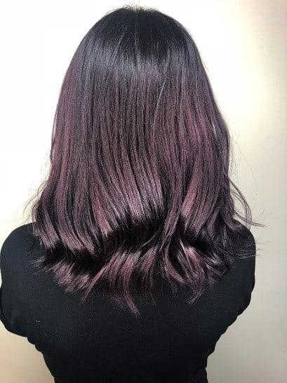 Autumn hair inspiration - plum